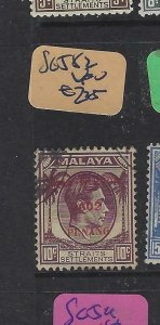 MALAYA JAPANESE OCCUPATION PENANG (P2101B)  KGVI DN  10C    SG J82   VFU