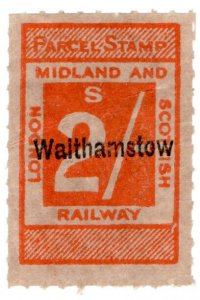 (I.B) London Midland & Scottish Railway : Parcel 2/- (Walthamstow)
