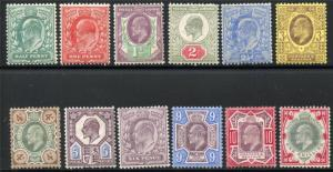 GREAT BRITAIN SCOTT# 127-38 MINT HINGED AS SHOWN MZN