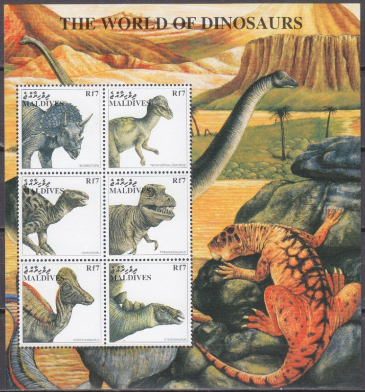 Maldives MNH S/S The World Of Dinosaurs 1997