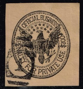US STAMP BOB CUT SQ USED $300 PENALTY OFFICIAL BUSINESS  CUT SQ