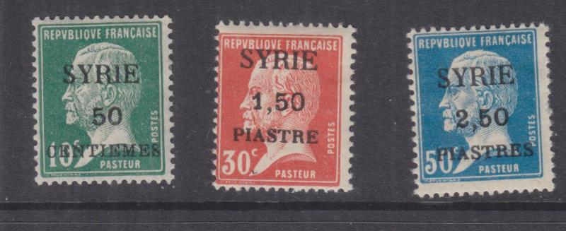 SYRIA, 1924 SYRIE Pasteur set of 3, lhm.