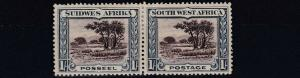 SOUTH WEST AFRICA  1931  S G 80  1/-   CHOCOLATE & BLUE    MH