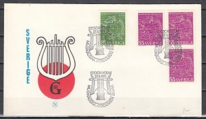 Sweden, Scott cat. 889-891. Abstract Music issue. First day cover. ^