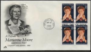 US FDC Scott # 2449 Moore Art Craft, Block of 4 First Day Cover (1 Cvr)