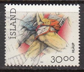 Iceland SC# 710  1993 Running used