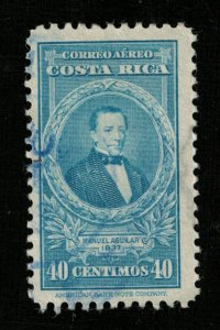 1943 Airmail - Portraits and Dates, Costa Rica 40c (TS-381)