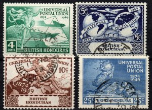 British Honduras #137-40 F-VF Used  CV $6.35 (X1272)