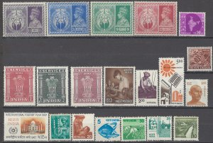 COLLECTION LOT OF # 1705 INDIA 20 MOSTLY MNH STAMPS 1946+CV +$20