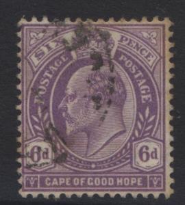 CAPE of GOOD HOPE - Scott 69 - KEVII -1903 - VFU - Single 6p Stamp1