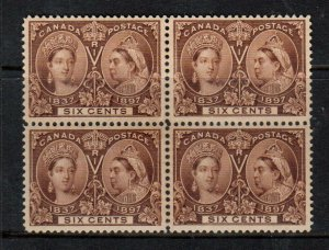Canada #55 Extra Fine Never Hinged Block **With Certificate**