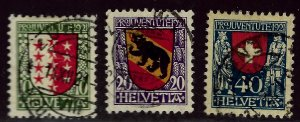 Switzerland SC B18-B20 Used VF $54.00...A World of Stamps!
