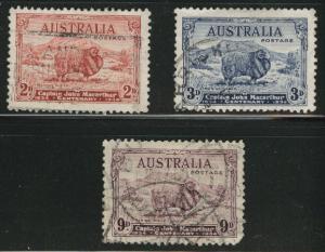 Australia Scott 147-149 Used 1934 Merino sheep set CV$78.50