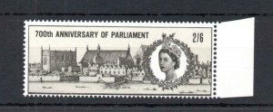 2/6 PARLIAMENT UNMOUNTED MINT + COLOUR SHIFT (QUEEN'S HEAD UP)