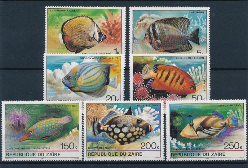 [60141] Congo Zaire 1980 Marine life Fish from set MLH