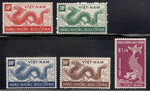 South Vietnam Scott C5-C9  MNH** 1952 Dragon, Fish Airmail set
