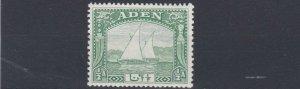 ADEN  1937  S G 1  1/2 YELLOW GREEN  MH