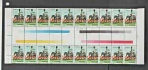 Australian Stamps Mint 35c Bernborough Gutter block X20 MUH 1978 Racehorse