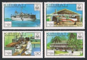 Kiribati 352-355,355a sheet,MNH.Michel 349-352,Bl.7. LONDON-1980.Ship,Plane.