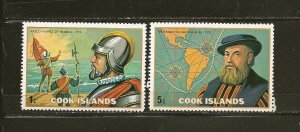 Cook Islands 422-423 Balboa & Magellan MNH