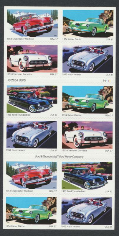 SC# 3931-35  MINT - America on the Move  Sport Cars - as new