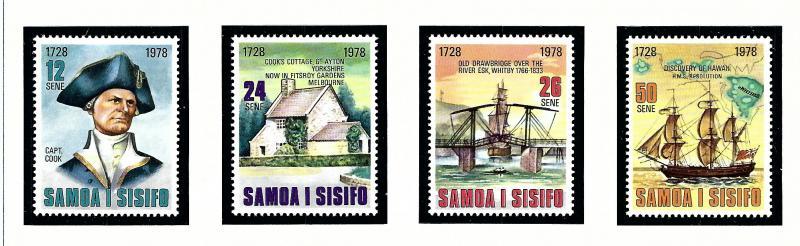 Samoa 474-77 MNH 1978 Capt. Cook