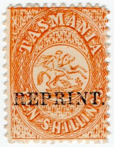 (I.B) Australia - Tasmania Revenue : Stamp Duty 10/- (1889 Reprint)