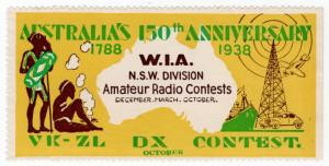 (I.B) Australia Cinderella : NSW Amateur Radio (150th Anniversary 1938)