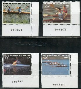 CHAD 1984 LOS ANGELES OLYMPIC GAMES SET & SOUVENIR SHEET AS SHOWN   MINT NH