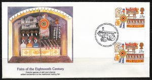 1983 Great Britain 1033 Fairs of the 18th Century gutter pair FDC