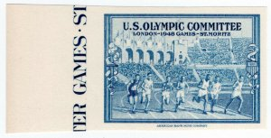 (I.B) US Cinderella: Olympic Committee (1948) plate proof