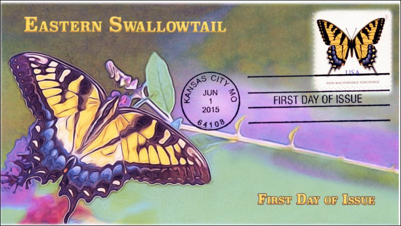 SC 4999, 2015, Tiger Swallowtail, 71 Cent, Butterfly, FDC, 15-139