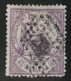 Spain 202 canceled 5c Justice 1874