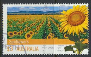 Australia SG 3749 Used ordinary gum SC# 3673 Sunflower  see scan / details