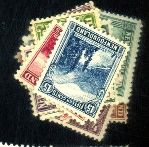 NEWFOUNDLAND #131-144 MINT F-VF OG LH Cat $170