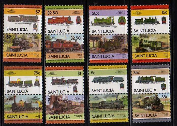 St. Lucia MNH SC# 711-8 Trains