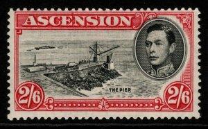 ASCENSION SG45 1938 2/6 BLACK & CARMINE p13½ MTD MINT