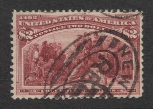 US#242 Brown Red - New York Registration Cancel