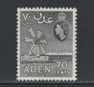 Aden 1953 Queen Elizabeth Definitive 70c Scott # 54 MH