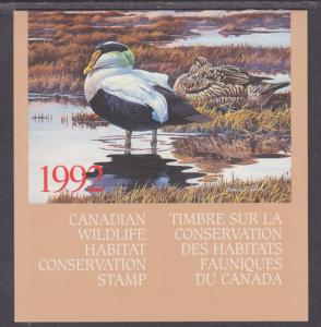 Canada Uni FWH8 MNH. 1992 $8.50 Eider Duck in Original Folder
