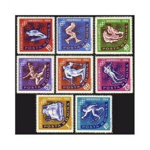 Romania 1597-1604,MNH.Michel 2195-2202 Olympics Innsbruck-64:Ski jump,Slalom,