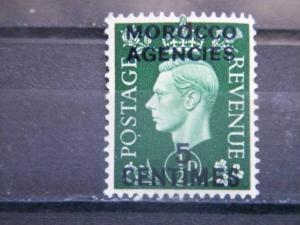 MOROCCO, British, 1937, MH 5c on 1/2p, Overprint, Scott 83