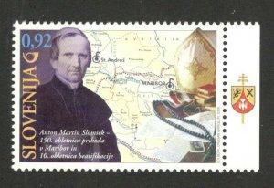 SLOVENIA - MNH STAMP - Anton Martin Slomsek - Bishop - Poet - Map - 2009.