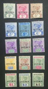 MOMEN: HONDURAS SG #51s-65s 1891-1901 SPECIMEN MINT OG H LOT #61243