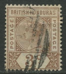 British Honduras- Scott 40- QV Definitive -1891- FU -Single 3c Stamp