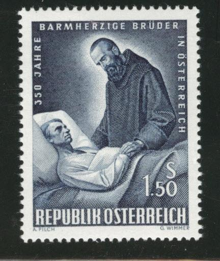 Austria Scott 728 MH* 1964 Brother of Mercy stamp