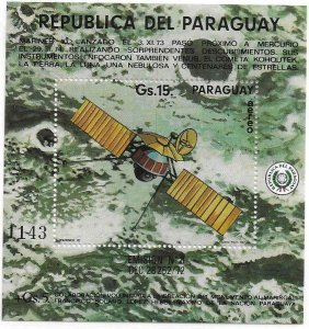 1974   PARAGUAY  -  MARINER 10 - CRATERS ON MERCURY   -  MNH