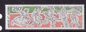 Wallis & Futuna-Sc#C167-unused NH Airmail set-Sports-Tennis-French Open-1991-