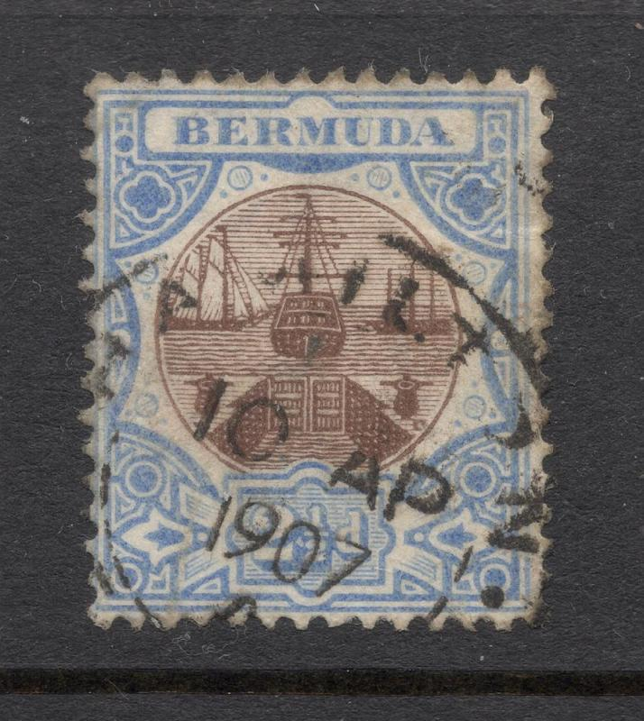 Bermuda #37 Blue & Brown - 1907 Hamilton, Bermuda Cancel