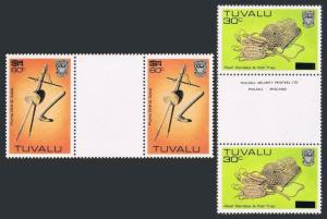 Tuvalu 207,230 gutter,MNH.Michel 197-198. Handcrafts,new value,1983-1984.